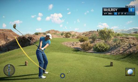 WGT Golf Game by Topgolf in-game screenshot with McIlroy